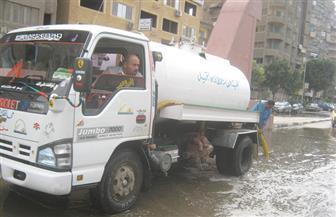 انتشار مرورى بالجيزة.. وسيارات لشفط مياه الأمطار