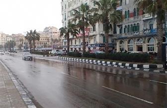 طقس سيئ مصحوب بأمطار متوسطة وانخفاض في درجات الحرارة بالإسكندرية