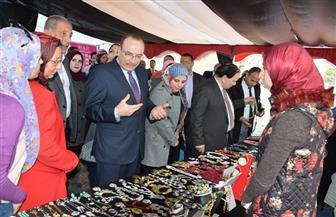 جامعة النهضة في بني سويف تنظم معرضا للقرية المنتجة | صور