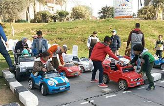 محافظ الإسكندرية وقيادات الداخلية يشاركون أطفال 57357 تعلم القواعد المرورية | صور