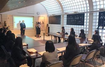 سفارة مصر بطوكيو تعقد ندوة لطلاب مدرسة ثانوية يابانية حول تاريخ مصر