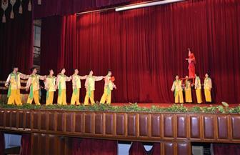 عروض استعراضية للفرقة الشعبية للفنون الصينية بجامعة القاهرة   صور