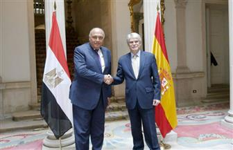وزير الخارجية يعقد جلسة مباحثات موسعة مع نظيره الإسباني ويتفقان على إنشاء آلية تشاور دورية