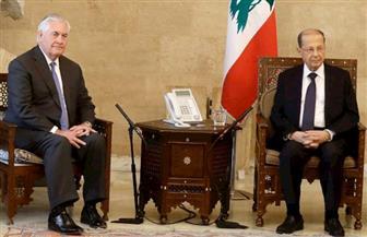 """عون أبلغ تيلرسون التزام لبنان بالحفاظ على الهدوء وأنه """"لا يريد الحرب مع أي طرف"""""""