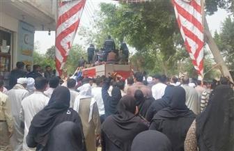 """الآلاف من أهالي الإبراهيمية بالشرقية يشيعون جثمان """"عبدالرحمن جلال"""" شهيد سيناء"""