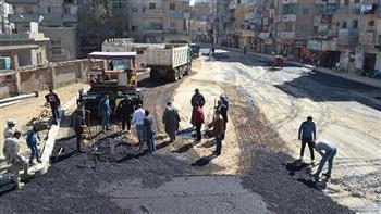 إعادة تأهيل شارع أحمد عرابي بالسويس   صور