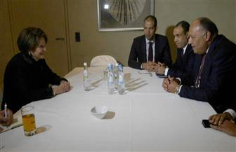 وزير الخارجية يستقبل رئيسة الشركة المنتجة للطائرات F16 العسكرية