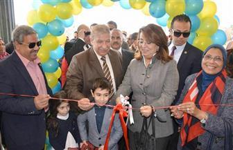 غادة والي تزور جمعية المستقبل للمكفوفين.. والكفيفات يصنعن مفاجأة من أجلها