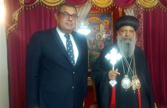 سفير مصر في أديس أبابا يلتقي بطريرك الكنيسة الأرثوذكسية الإثيوبية