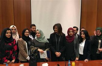 نبيلة مكرم للجالية في الأردن: احذروا محاولات بث السلبية إزاء الانتخابات الرئاسية | صور