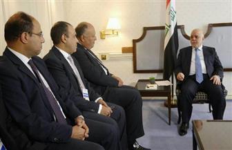 شكري يبحث مع العبادي مساهمة مصر في إعادة إعمار العراق