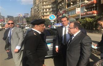 وزير الداخلية يتفقد الحالة المرورية بشارع جامعة الدول العربية | صور