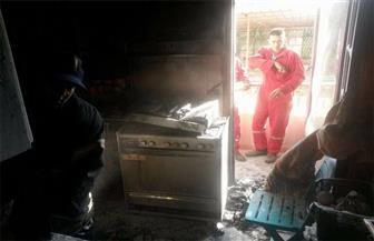 نشوب حريق في شقة أمام مدرسة الملك الكامل بالمنصورة | صور