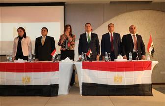 تفاصيل لقاء وزيرة الهجرة بالجالية المصرية في الكويت | صور