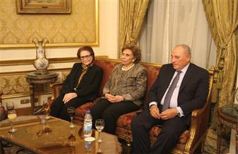 منظمة المرأة العربية تنظم حفل استقبال للمناضلة جميلة بوحيرد بالنادي الدبلوماسي | صور