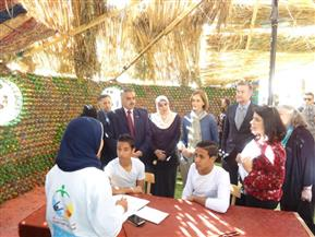 """وفد المعونة الأمريكية يكرم طلبة مدرسة صالح حرب بأسوان بعد افتتاح برنامج """"معا ننطلق""""   صور"""