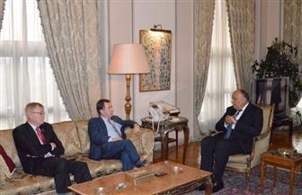 """وفد الكونجرس الأمريكي لـ""""شكري"""": لدينا ارتياح لما تشهده مصر من استقرار تحت قيادة الرئيس السيسي"""