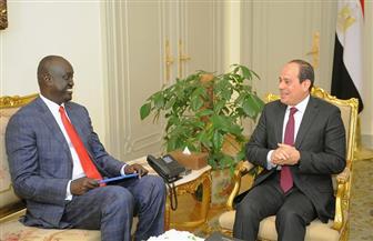 الرئيس السيسي يؤكد حرص مصر على إرساء السلام في جنوب السودان خلال استقباله مبعوث سلفا كير