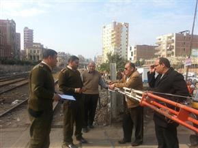 رئيس سمنود يطالب بحصر معوقات تطوير مزلقانات السكة الحديد بالمركز | صور