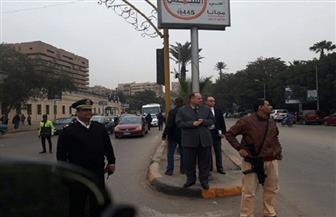 مدير أمن الجيزة يقود حملة مرورية بميدان النهضة | صور