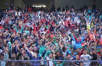 بالصور.. جماهير المقاصة في مدرجات ستاد القاهرة بأعلام مصر