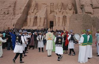 6 فرق من الفنون الشعبية تشارك في احتفالية تعامد الشمس على وجه رمسيس