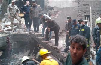 الصحة :وفاة طفل وإصابة 16 فى انهيارعقار منشأة ناصر