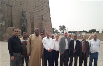 قيادات بالأزهر الشريف من معبد الأقصر: مصر واحة الأمن والأمان | صور