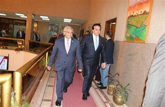 وزير التعليم العالى يصل جامعة المنيا لافتتاح أسبوع متحدى الإعاقة