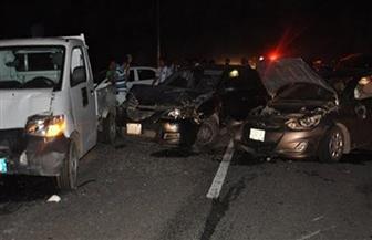 زحام مروري على محور 26 يوليو بسبب تصادم 3 سيارات