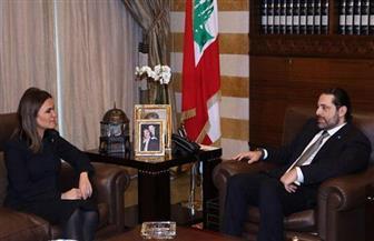وزيرة الاستثمار تبحث مع رئيس وزراء لبنان سبل تعزيز التعاون بين البلدين