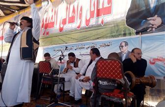 القبائل العربية بالفيوم تدعم انتخاب الرئيس عبد الفتاح السيسي|   صور