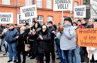 مظاهرة احتجاجا على العنف مع المهاجرين بمدينة كوتبوس الألمانية