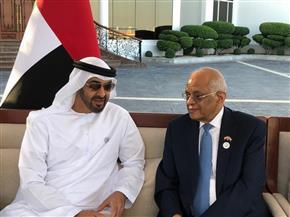 ولى عهد أبوظبي يستقبل علي عبد العال