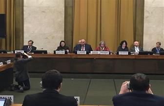سامح شكرى يلقي كلمة مصر في مؤتمر نزع السلاح بمقر الأمم المتحدة بجنيف