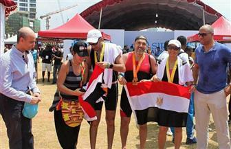16 رياضيا مصريا يحرزون تقدما في بطولة السباق الثلاثي بسريلانكا | صور