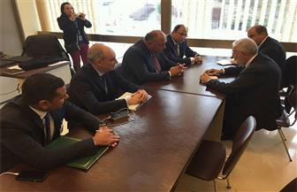 سامح شكرى يلتقي نظيره الليبى في جنيف | صور