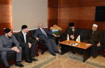 مفتي الشيشان يزور مقر منظمة خريجي الأزهر بالقاهرة