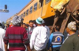 """""""بوابة الأهرام"""" تنشر صور حادث قطاري البحيرة"""