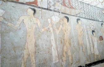 """ننشر صور المقبرة المكتشفة بمنطقة الجبانة الغربية قرب """"خوفو"""""""