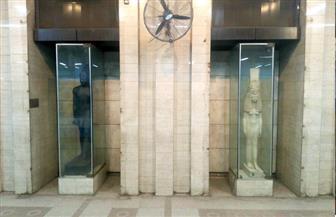 عودة التماثيل الفرعونية لمحطة السادات لأول مرة منذ 2011 | صور
