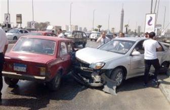 حادث تصادم أعلى كوبري أكتوبر.. وكثافات متوسطة بمعظم الطرق