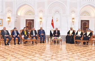 تفاصيل لقاء الرئيس السيسي بكبار رجال الأعمال العمانيين | صور