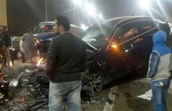 مصرع شخص وإصابة 5 إثر اصطدام سيارة بعامود إنارة على الطريق الدولي الساحلي بكفرالشيخ