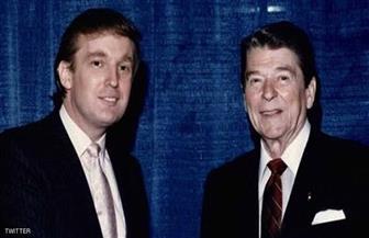 """ترامب يتذكر ريجان بصورة """"من الماضي"""""""