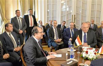 بدء اجتماع وزيري خارجية ورئيسي مخابرات مصر والسودان  صور