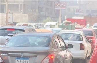 كثافات مرورية بالطريق الدائري ومحور الأوتوستراد بسبب زيادة الأحمال | صور