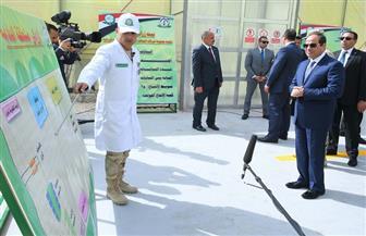 الرئيس السيسي يفتتح المرحلة الأولى من مشروع الـ100 ألف صوبة زراعية