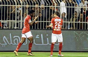 باكا يحرز الهدف الأول للأهلي في شباك المقاولون العرب