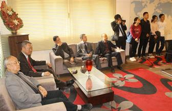 وفد طلابى صينى يزور مركز الدراسات الدولية عن بعد بجامعة طنطا   صور